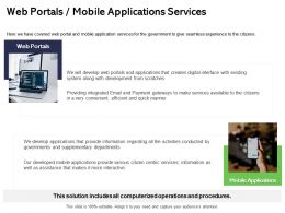 Web Portals Mobile Applications Services Citizens Ppt Powerpoint Presentation Outline Files
