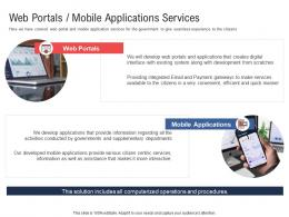 Web Portals Mobile Applications Services Electronic Government Processes Ppt Demonstration