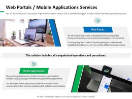 Web Portals Mobile Applications Services Makes Ppt Powerpoint Presentation Icon Demonstration
