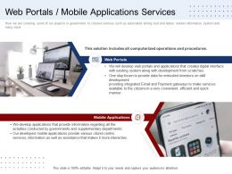 Web Portals Mobile Applications Services Ppt Show Maker