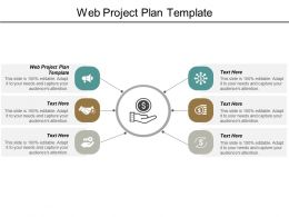 Web Project Plan Template Ppt Powerpoint Presentation Model Gridlines Cpb