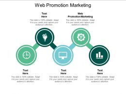 Web Promotion Marketing Ppt Powerpoint Presentation Gallery Graphic Images Cpb