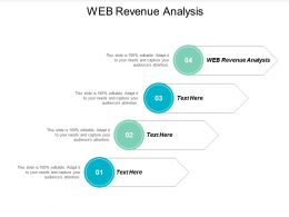 Web Revenue Analysist Ppt Powerpoint Presentation Icon Diagrams Cpb