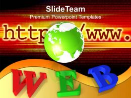Web Search Image With Globe Powerpoint Templates Ppt Backgrounds For Slides 0213