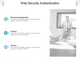 Web Security Authentication Ppt Powerpoint Presentation Infographics Example Topics Cpb