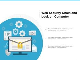 Web Security Chain And Lock On Computer