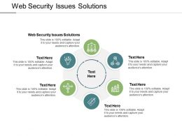 Web Security Issues Solutions Ppt Powerpoint Presentation Pictures Grid Cpb