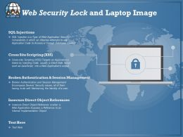 Web Security Lock And Laptop Image
