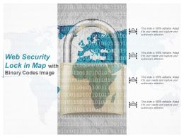 Web Security Lock In Map With Binary Codes
