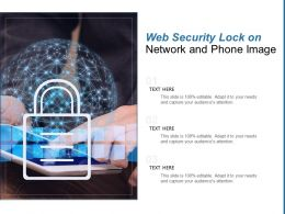 Web Security Lock On Network And Phone Image