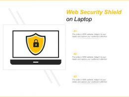 Web Security Shield On Laptop