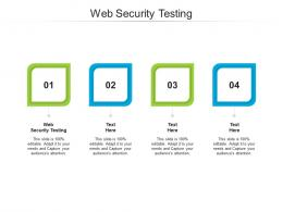 Web Security Testing Ppt Powerpoint Presentation Icon Graphics Example Cpb