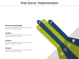Web Server Implementation Ppt Powerpoint Presentation Icon Background Cpb