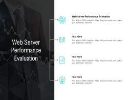 Web Server Performance Evaluation Ppt Powerpoint Presentation Model Graphics Cpb