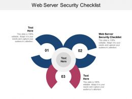 Web Server Security Checklist Ppt Powerpoint Presentation Show Cpb