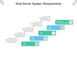 Web Server System Requirements Ppt Model Demonstration Cpb