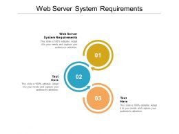 Web Server System Requirements Ppt Powerpoint Presentation Slides Vector Cpb