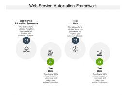Web Service Automation Framework Ppt Powerpoint Presentation Portfolio Examples Cpb