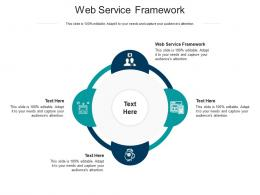 Web Service Framework Ppt Powerpoint Presentation Professional Vector Cpb