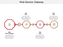 Web Service Gateway Ppt Powerpoint Presentation Visual Aids Infographic Template Cpb