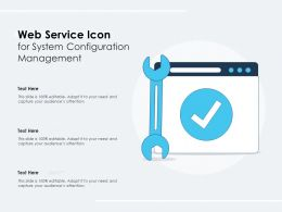 Web Service Icon For System Configuration Management
