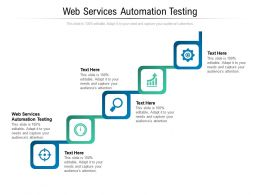 Web Services Automation Testing Ppt Powerpoint Presentation Styles Grid Cpb