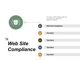 Web Site Compliance Ppt Powerpoint Presentation Gallery Example Cpb