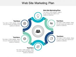 Web Site Marketing Plan Ppt Powerpoint Presentation Gallery Elements Cpb