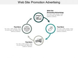 Web Site Promotion Advertising Ppt Powerpoint Presentation Infographics Deck Cpb