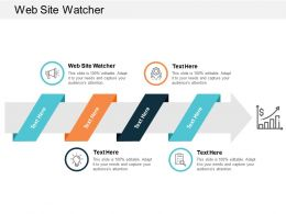 Web Site Watcher Ppt Powerpoint Presentation Gallery Graphic Images Cpb