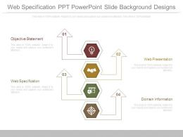 Web Specification Ppt Powerpoint Slide Background Designs