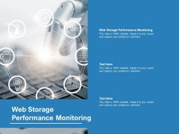 Web Storage Performance Monitoring Ppt Powerpoint Professional Files Cpb