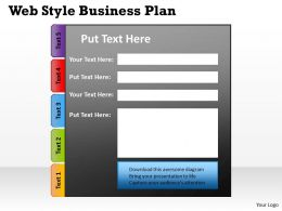 Web Style Business Plan Powerpoint Slides Presentation Diagrams Templates