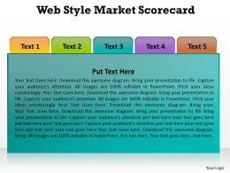 web style market scorecard with tabs to choose quickly and fast powerpoint diagram templates graphics 712
