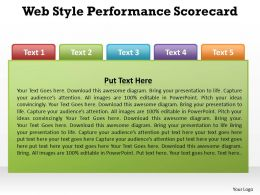web style performance measurement scorecard powerpoint diagram templates graphics 712