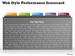 Web Style Performance Scorecard Powerpoint Slides Presentation Diagrams Templates