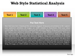 web style statistical analysis powerpoint diagram templates graphics 712