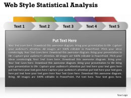 Web Style Statistical Analysis Powerpoint Slides Presentation Diagrams Templates