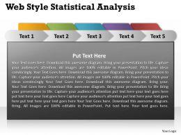 Web Style Statistical Analysis Powerpoint Slides Presentation Diagrams Templates