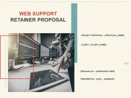 Web Support Retainer Proposal Template Powerpoint Presentation Slides