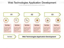 Web Technologies Application Development Ppt Powerpoint Presentation Styles Slide Cpb