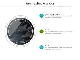 Web Tracking Analytics Ppt Powerpoint Presentation Layouts Aids Cpb