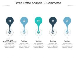 Web Traffic Analysis E Commerce Ppt Powerpoint Presentation Infographic Template Graphics Tutorials Cpb