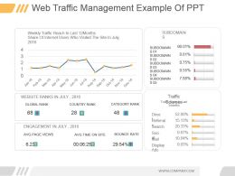 Web Traffic Management Example Of Ppt
