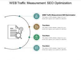 Web Traffic Measurement SEO Optimization Ppt Powerpoint Presentation Show Shapes Cpb