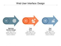 Web User Interface Design Ppt Powerpoint Presentation Styles Portfolio Cpb