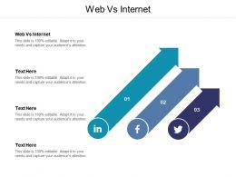 Web Vs Internet Ppt Powerpoint Presentation Summary Layouts Cpb