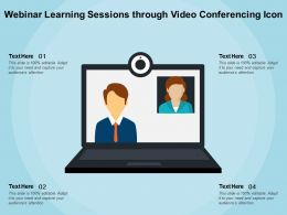 Webinar Learning Sessions Through Video Conferencing Icon