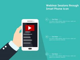 Webinar Sessions Through Smart Phone Icon