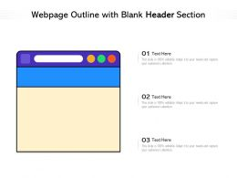 Webpage Outline With Blank Header Section